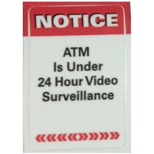 NOTICE: ATM Surveillance Decal