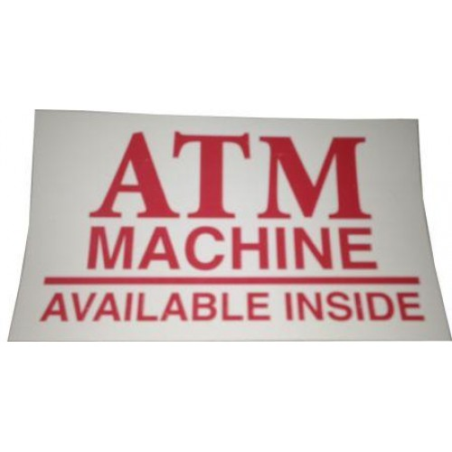 Decal ATM Available Inside (Small)