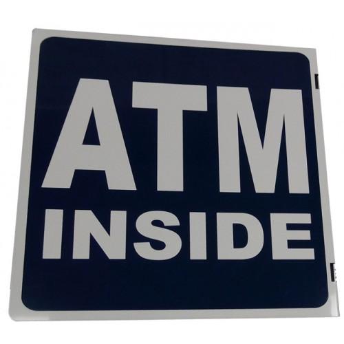 Metal ATM Pole Sign
