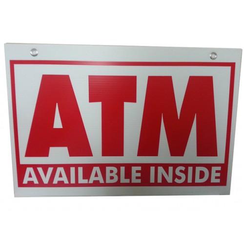 ATM Inside Coroplast ATM Sign, 16X24